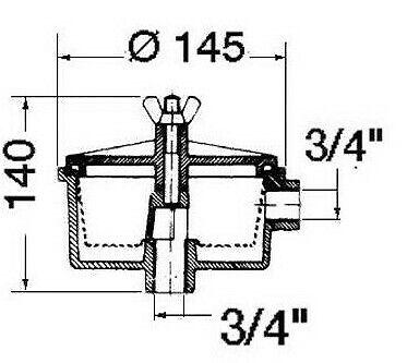 """Boat Engine Water Intake Filter 3//4/"""" Raw Water Separator Basket     WF5"""