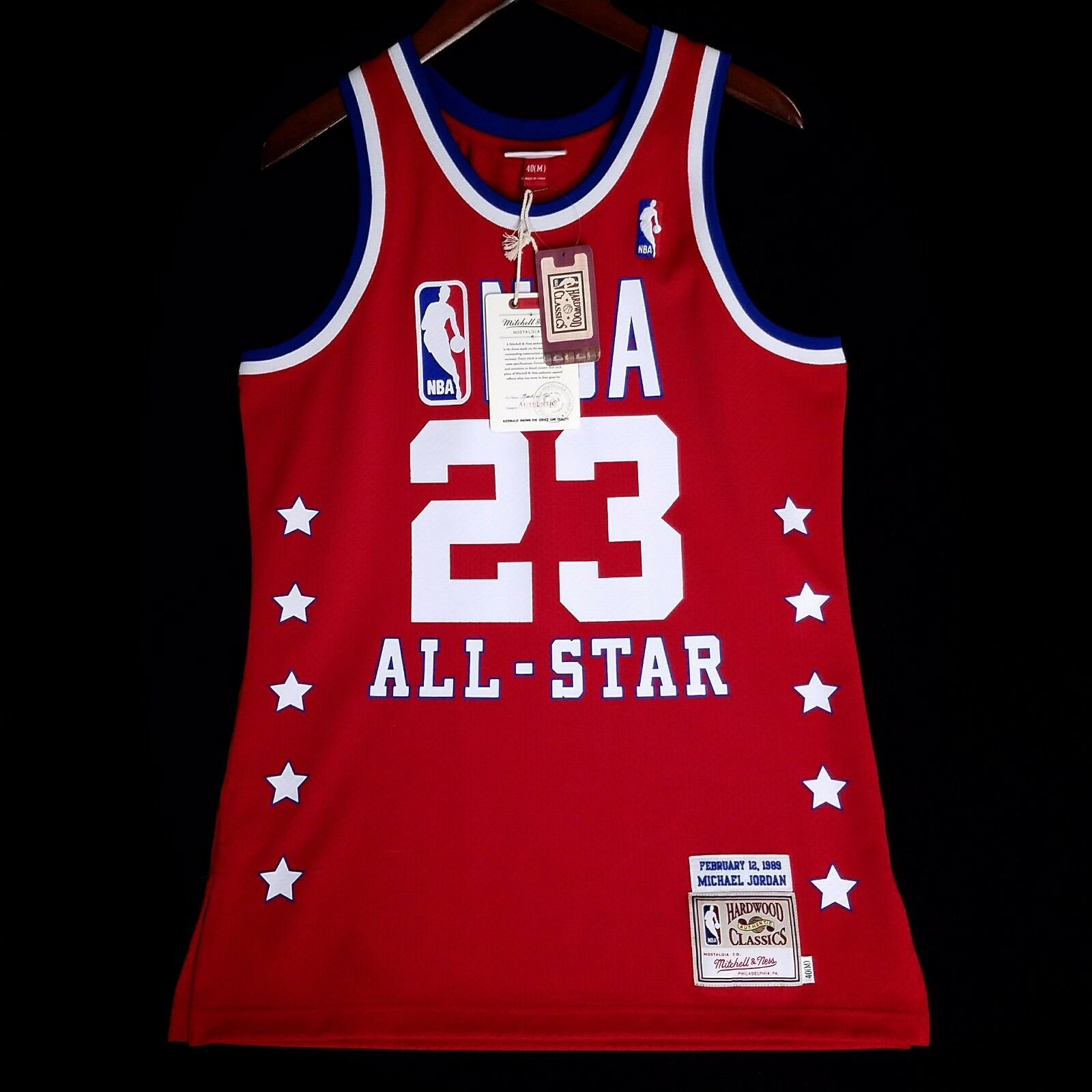 100% Authentisch Michael Jordan Mitchell & Ness 1989 1989 1989 All Star Trikot Größe 36 S 25cfd9