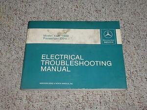 1980 Mercedes Benz 240D 240 D Electrical Wiring Diagram ...