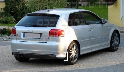 Audi a3 8p Heckschürze s3 Look Heckansatz Heckspoiler Diffuseur
