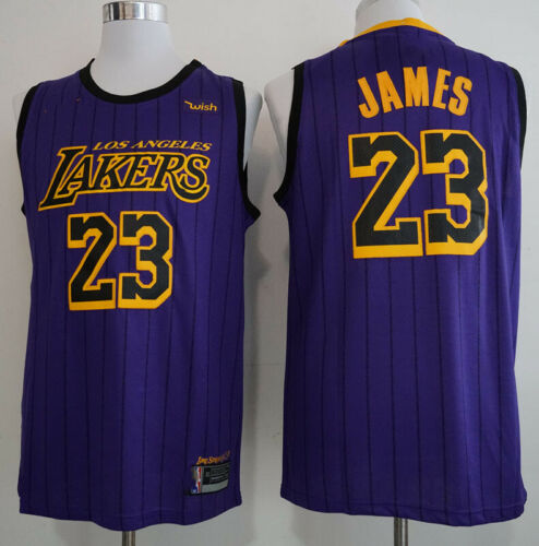 LeBron James STITCHED City Edition 23# Swingman Men/'s Basketball Jersey Vest Tee