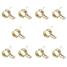 10Pcs 6mm Spring Clips Fuel Hose Line Water Pipe Air Tube Clamps Fastener Tools