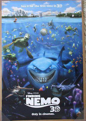 FINDING NEMO MOVIE POSTER 2 Sided ORIGINAL 2012 3D  REISSUE INTL 27x40