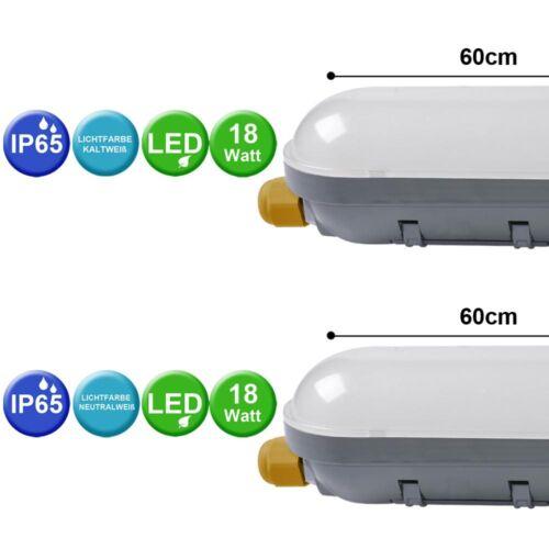 Wannen Leuchte LED Büro Industrie Garage Werkstatt Beleuchtung Lampe Feuchtraum
