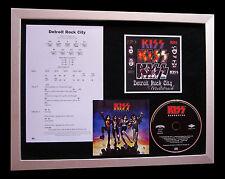 KISS Detroit Rock City SUPERB CD QUALITY MUSIC FRAMED DISPLAY+FAST GLOBAL SHIP