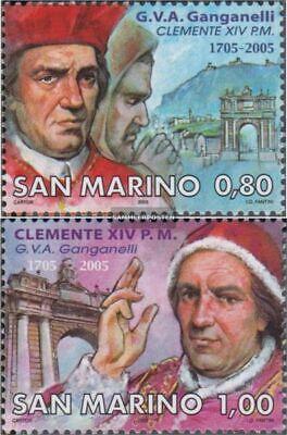 Postfrisch 2005 Papst Klemens Xiv. kompl.ausg. FäHig San Marino 2237-2238