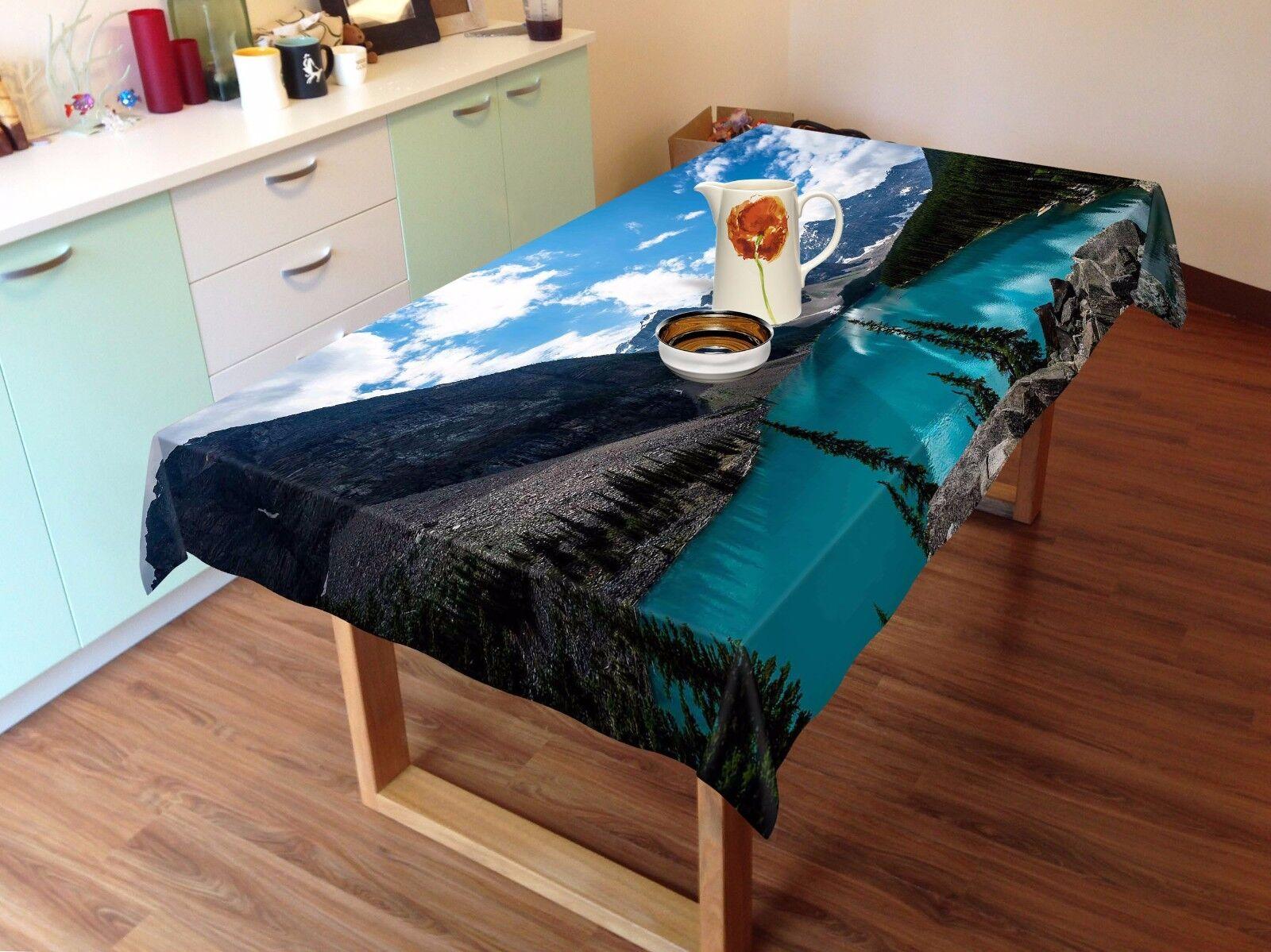 3D Sky River Tablecloth Table Cover Cloth Birthday Party AJ WALLPAPER UK Lemon