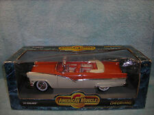 1/18 1956 FORD SUNLINER CABRIOLET IN ORANGEIVORY BY ERTL AMERICAN MUSCLE .