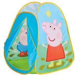 buy popular ad0c5 80f96 Dettagli su Peppa Pig Tenda da Gioco Pop Up Bambini Esterni Interni  Divertente Attività