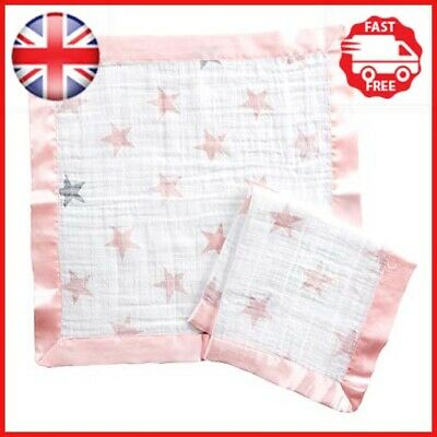 Anais Issie Security Blanket 100/% Cotton Muslin 2 Pack Doll Aden By Aden
