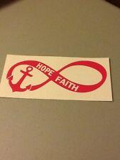 Infinity hope faith vinyl die cut decal,anchor,window,car,truck,love,laptop,iPad