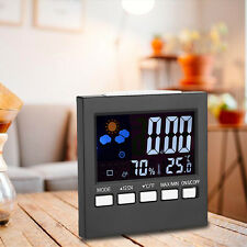 Weather Station Thermometer Hygrometer Temperature Humidity Calendar Clock Alarm