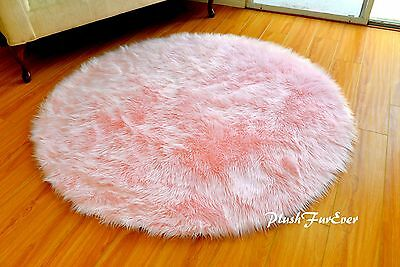 5 Or 60 Round Area Rug Baby Pink