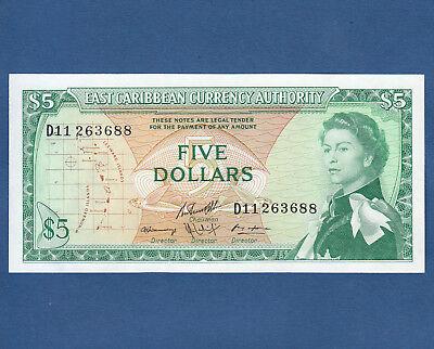 Aunc P 1965 East Caribbean States 5 Dollars 14 H