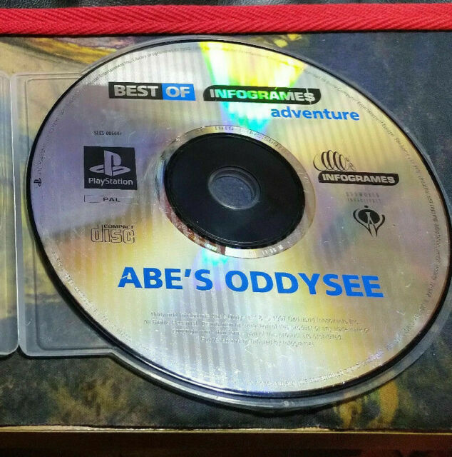 Oddworld: Abes Oddysee Spiel-Sony Playstation 1/ps1/PSX-Disc Only