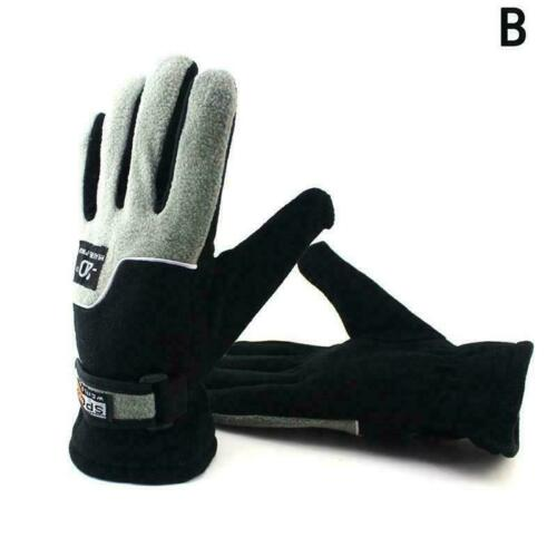 Winter Thermal Warm Soft Fleece gefütterte Handschuhe Mitts Unisex Drive Sp F3F3