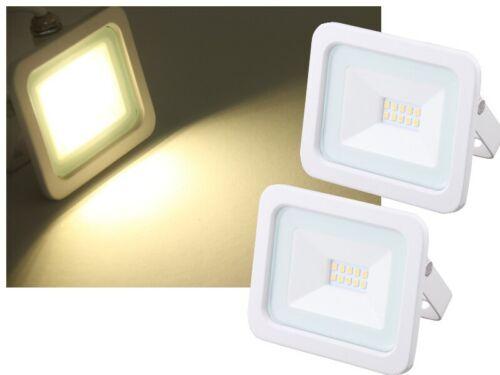 2x Mini LED Flutlichtstrahler NOCTIS IP65 10W 820lm neutralweiss Außenstrahler