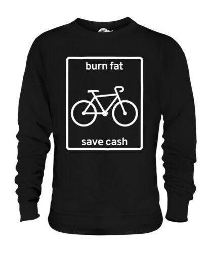 E Fitness Ciclismo Unisex Denaro Grassi Brucia Regalo Save I Maglione zxFOEwU
