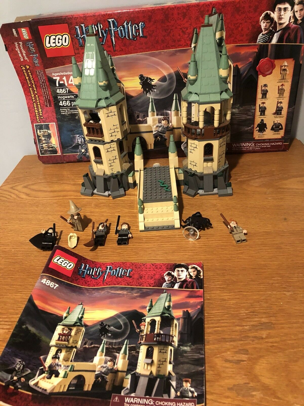 LEGO Harry Potter Hogwarts 4867 100% Complete, MANUAL, box, minifigures