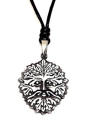 Herne the Hunter Pendant Pewter Pagan Horned God Cernunnos Bead Cord Necklace