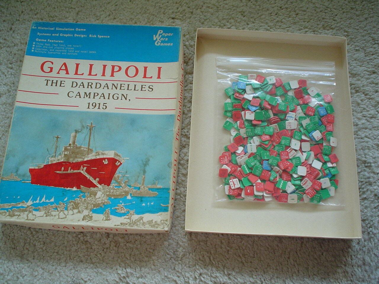 Gallipoli-Rare Vintage Jeu de guerre par Paper Wars Jeux - 1979