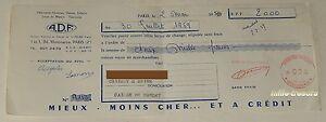 LETTRE-de-CHANGE-1959-A-D-F-Vetements-Hommes-Dames-Enfants-Linge-de-Maison-2