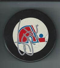 Jacques Cloutier Signed Quebec Nordiques Puck