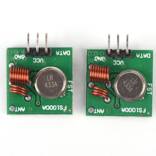 2Stücke 433 Mhz Wireless RF Sender Modul Empfänger Alarm Regeneration Arduino  X