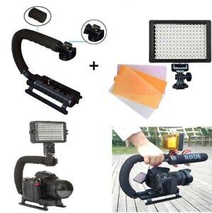 160-LED-Video-Light-Photo-Lamp-Camera-Stabilizer-Hand-Grip-For-Canon-Nikon-DSLR