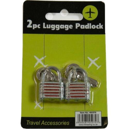 "Mekanix 45//272 twin pack de 4/"" bagages cadenas voyage essentiels accessoires neuf"