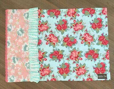 Matilda Jane Garden Party Pillowcase Sham Green Pink Roses Floral