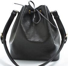 Louis Vuitton EPI Petit NOE Bag Tasche Shoulder Schultertasche Schwarz SUPER RAR
