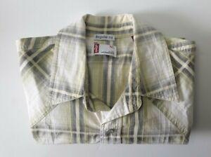 Levis Regular Fit Pearl Snap Button Short Sleeve Men's Check Shirt Size XL