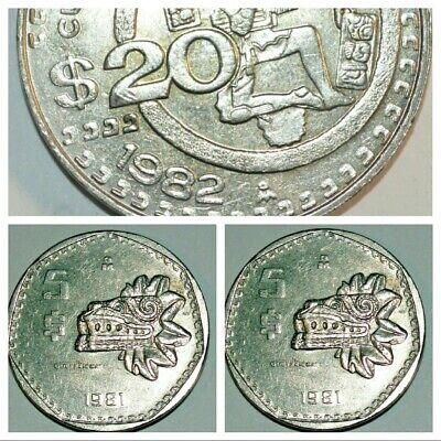1982 $20 mexican coin