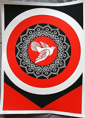 SHEPARD FAIREY ♦ PEACE DOVE RED ♦ serigraphie SIGNEE ♦ OBEY GIANT MINT