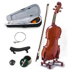New-Solid-Wood-Intermediate-1-4-Violin-w-Case-Bow-Rosin-String