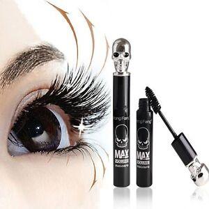 Skull-Eyelash-Mascara-3D-Waterproof-Black-Makeup-Extension-Fiber-Long-Curling-U8