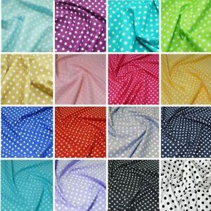 100/% Cotton Poplin Fabric 7mm Spots
