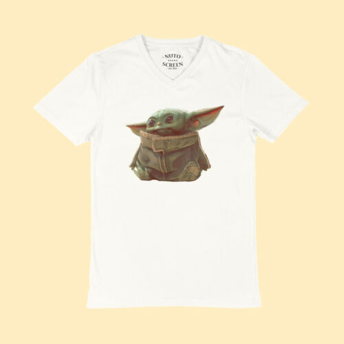 The Mandalorian Baby Yoda Sitting T-Shirt The Child Star Wars V-Neck Shirt