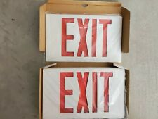 Lithonia Lighting Quantum Thermoplastic Led Emergency Exit Sign Red New