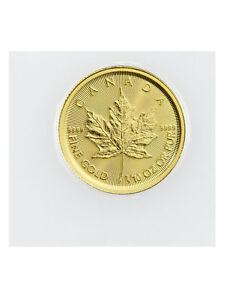 2019 Canada 1/10 oz Gold Maple Leaf $5 Coin GEM BU Mint Sealed SKU55920