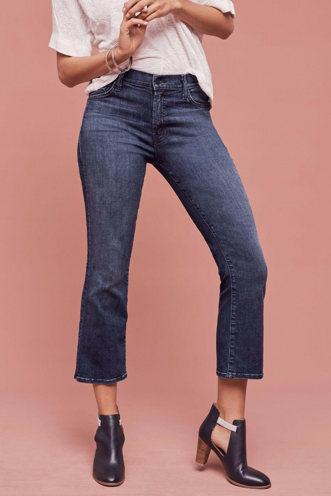 NWT MOTHER THE INSIDER HIGH-RISE TWILIGHT MAGIC CROP JEANS 29