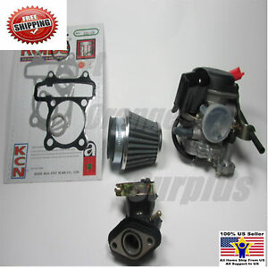 Details about 50CC SCOOTER GY6 CARBURETOR MANIFOLD AIR FILTER GASKETS SUNL  ROKETA JCL