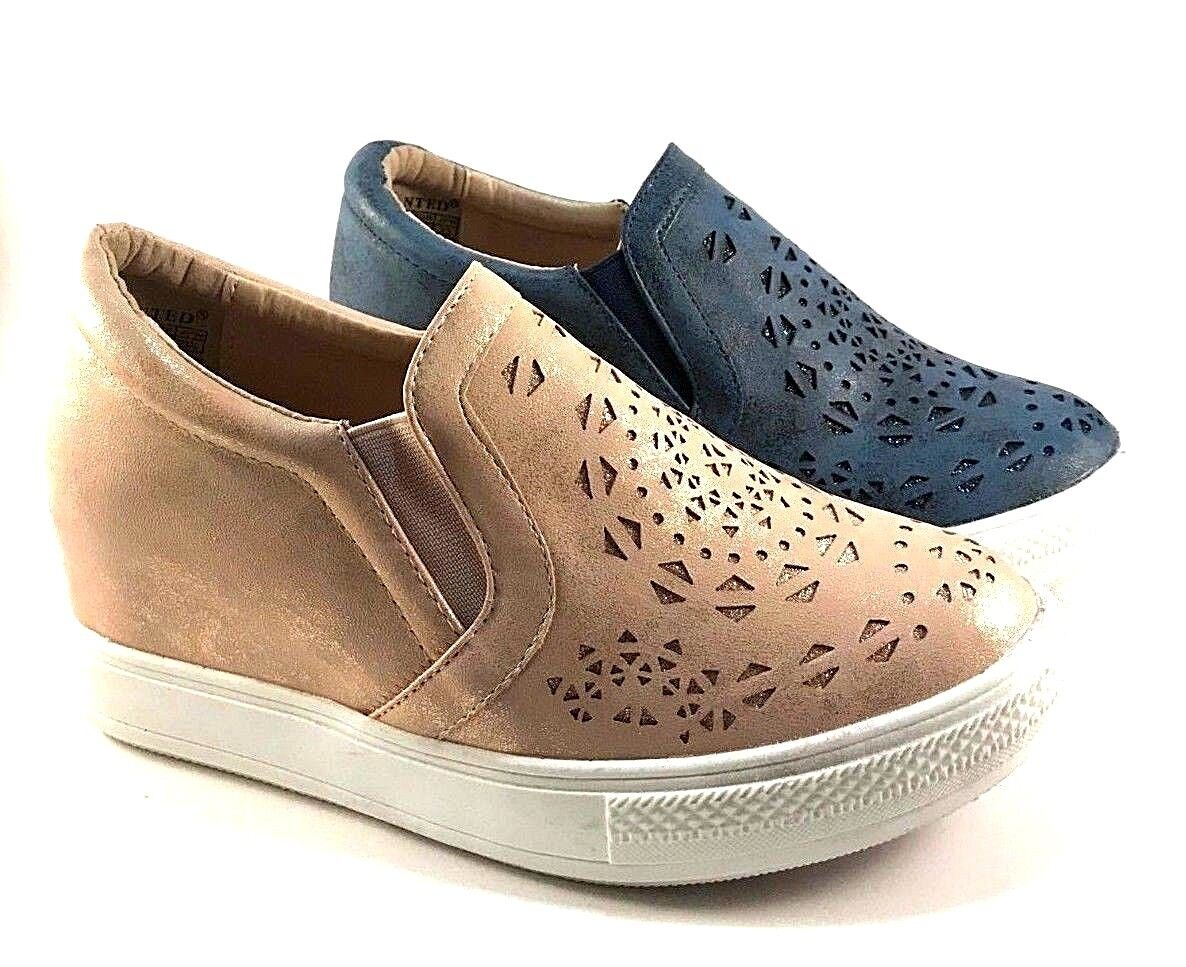 Wanted Opulent Hidden Wedge Slip On Sneakers Choose Sz color