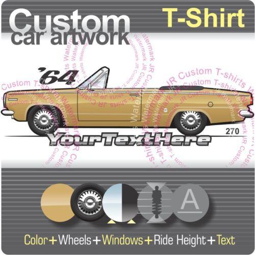 Custom T-shirt pour 1964 64 Dodge Dart Cabriolet 270 six V8 3 Vitesse GT fans