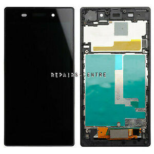 For Sony Xperia Z1 C6903 Black LCD Display Touch Screen Digitizer Assembly Frame