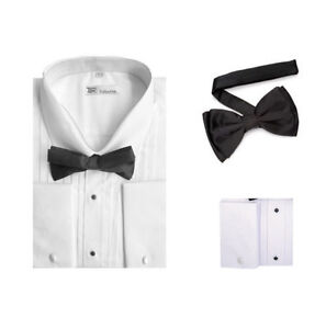Men 39 S Tuxedo Dress Shirt Point Collar And French Cuff With