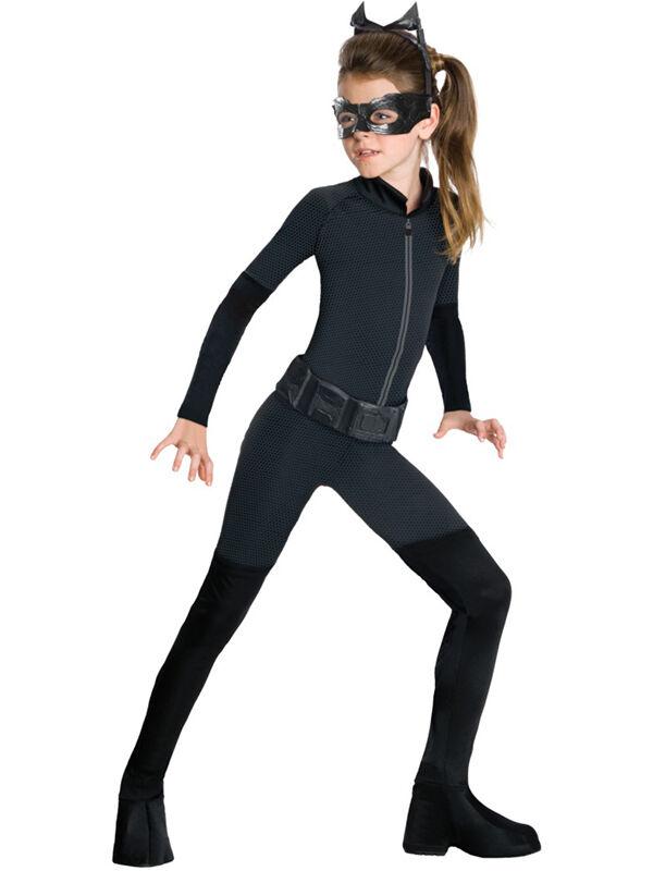 Child Catwoman Kids Batman Dark Knight Girls Fancy Dress Costume Mask