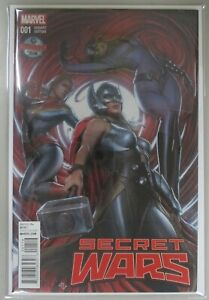 Secret-Wars-1-Adi-Granov-Travelling-Man-NM-VF-Variant-Cover-2015-Marvel-Comics