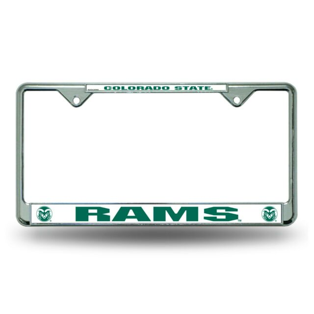 Rico Industries NCAA Michigan State Spartans Standard Chrome License Plate Frame